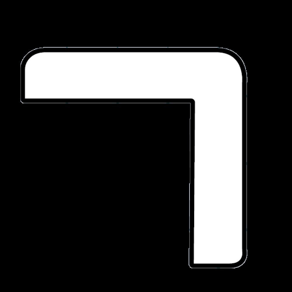 hörnlist vit 43x43